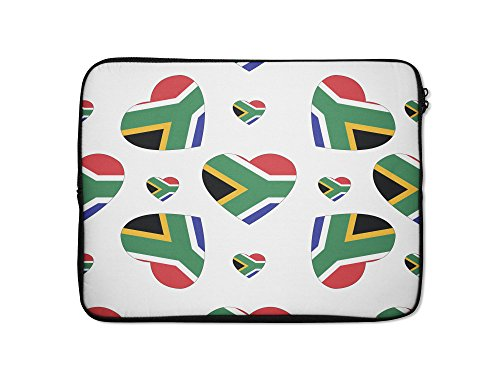 Style in Print South Africa Country Flag Hearts Laptop Ip...