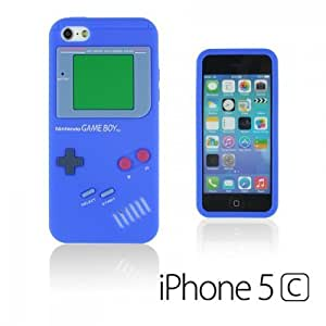 OnlineBestDigital - Apple iPhone 5C Gameboy Style Silicone Skin Case / Cover / Shell - Blue