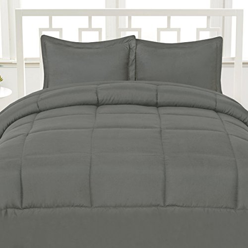 Aurora Bedding Luxurious Down Alternative Soft Solid Color Comforter Box Stitch Brushed Microfiber Bedding - King, - Bedding Aurora