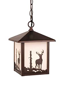 Vaxcel OD33586BBZ Bryce 8-Inch Outdoor Pendant, Burnished Bronze