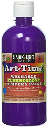 - Sargent Art 17-4742 Art-Time 16oz Violet Washable Fluorescent Tempera Paint