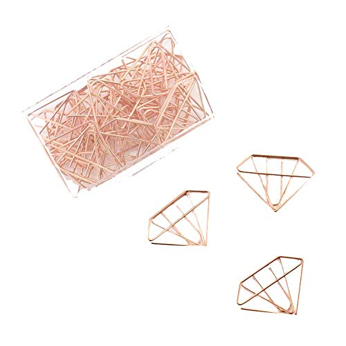 30 Pieces Design of Diamond Shape Paper Clip, C1 by DRAGON SONIC