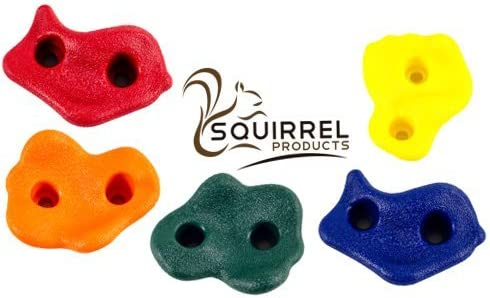 Squirrel Products 20 Extra Large Deluxe Rock Climbing Holds with Mounting NEW
