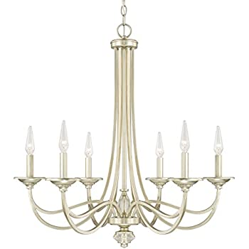 capital lighting 413861sf six light chandelier amazon com