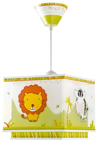 Dalber 63112 Little Zoo Hängelampe, Plastik, gelb, 24 x 24 x 21 cm