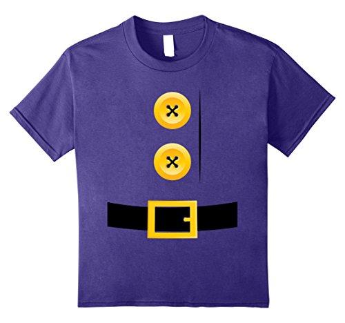 Gnome Costume Diy Girl (Kids Dwarf, Gnome, Elf, Halloween Group Matching Costume Shirt 8 Purple)