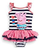 LuckB Baby Girls' Princess Swimwear Kids Cartoon Pig Swimming Swimsuits