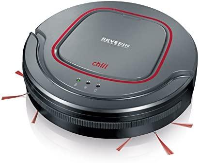 Severin RB 7025 Robot aspirador, batería de iones de litio de 12.8 V, Chill, gris/rojo/negro