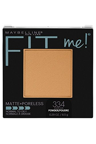 Maybelline New York Fit Me Matte + Poreless Powder Makeup, Warm Sun, 0.28 Ounce