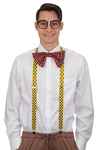 Jacobson Hat Company Nerd Set (Glasses, Bow Tie, - Glasses Bow With Nerd