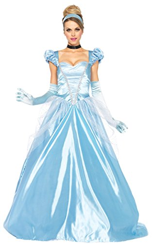 Leg Avenue Disney 3Pc. Classic Cinderella Costume, Blue,