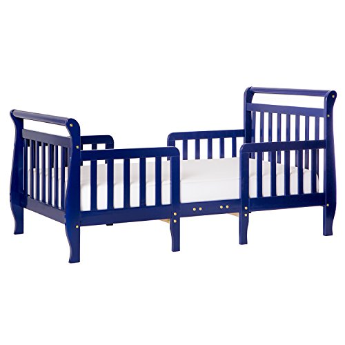 Toddler Bed with side rail on all sides, Royal Blue