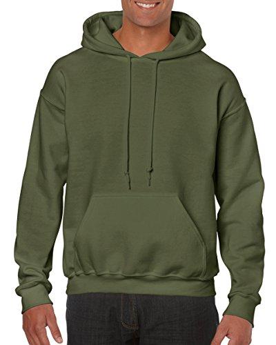 Gildan Adult Heavy Blend� Hooded Sweatshirt (Military Green) (2X-Large) ()