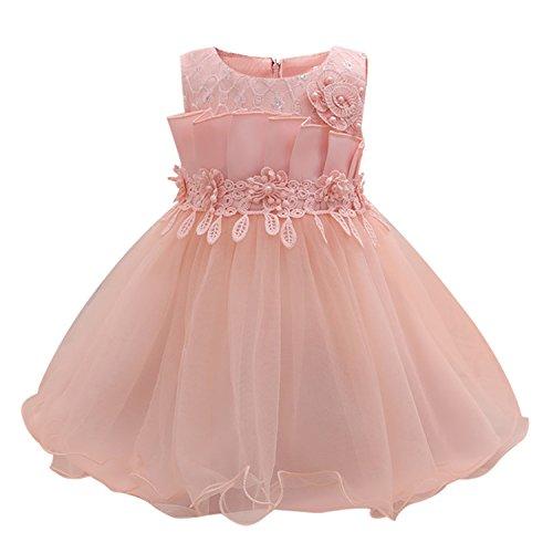 Chopstick Newborn Ball Costume Bridal Outfits Little Baby Girl Bow Ball Dress Enfant Clothing Pink -