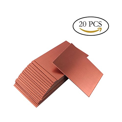 Teenitor Top Quality 20Pcs 100x70x1.5mm Single Sided Copper Clad Laminate PCB Circuit Board [Fast Shipping By FBA] (Pcb Plate)