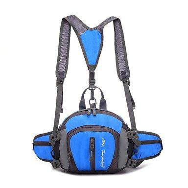 zhudj multifunción al aire libre mochila impermeable bolsa de nylon para hombres bolsas de viaje deporte cintura montañismo senderismo Camping mochila, gris azul