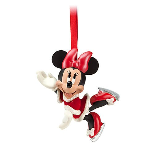 Disney Minnie Mouse Santa Iceskating Ornament