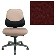 Office Master Maxwell Collection MX84PD Ergonomic Intensive-Use Chair - No Armrests - Grade 1 Fabric - Spice Paprika Red 1167 with Black Ballistic Nylon Backrest PLUS Free Ergonomics eBook
