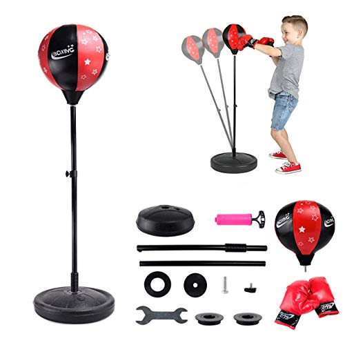 Schuang Punching Bag for Kids Boxing Set Includes Children's Boxing Gloves, Punching Bag, Standing Base with Adjustable…