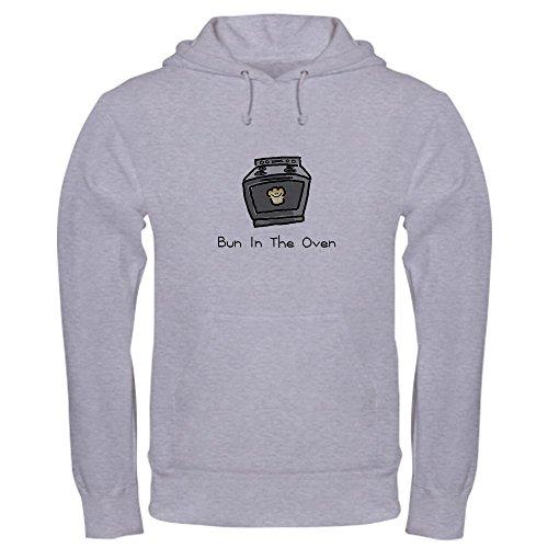 CafePress Bun in The Oven Pullover Hoodie, Classic & Comfortable Hooded Sweatshirt Heather Grey ()