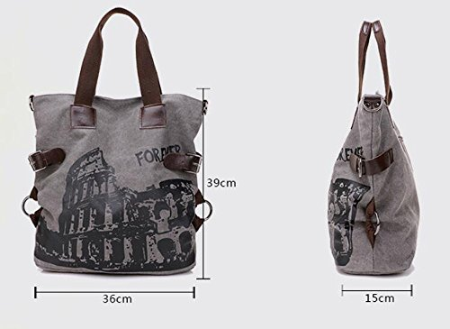 Hobo Femmes Légère Bandoulière À Sac PINCHU Grand À Sac Toile Shopping Brown Occasionnel Main Rencontres Collage en 8UYxUdHqw
