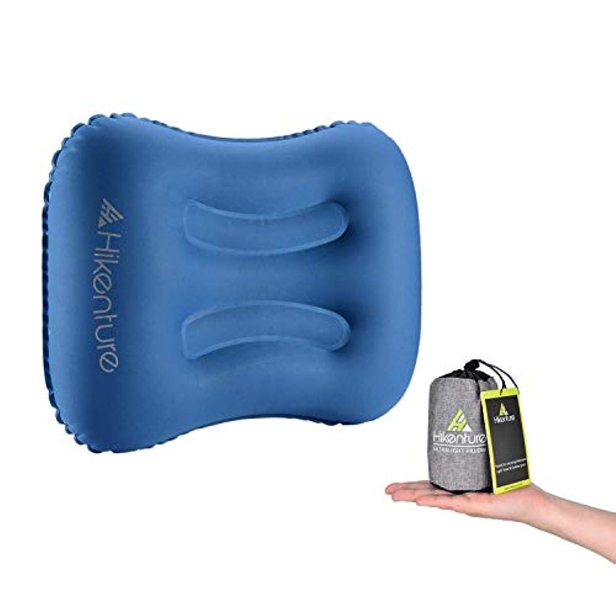 [해외] 에어 pillow HIKENTURE® 여행용침 트래블 pillow 마이 pillow 휴대용 쿠션 pillow 침수납 봉투 첨부 컴포트comfort 아웃도어 캠프 차 안박 사무실