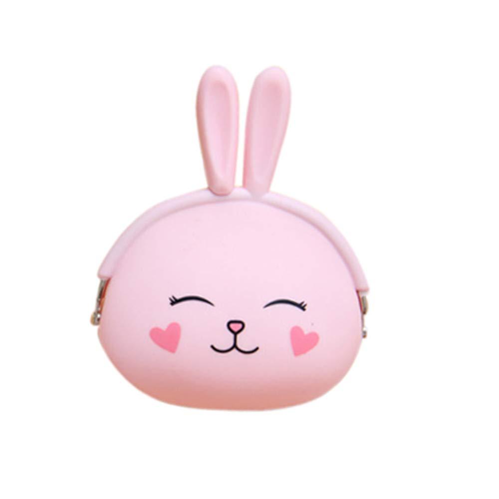 Amazon.com : Cash Bag Coin Purse, Cute Bunny Head Wallet Bag ...