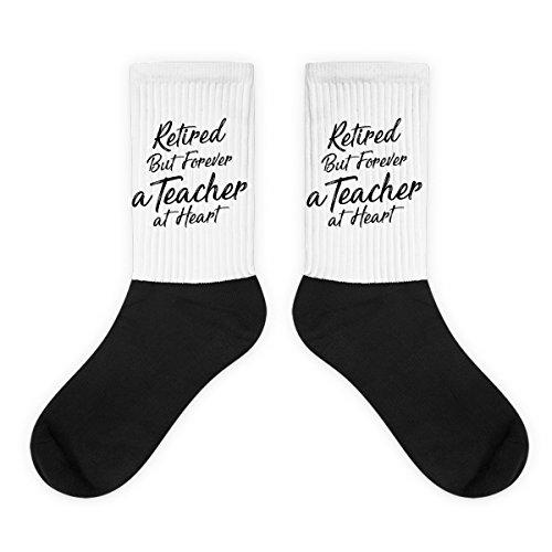 Heart Geeks Mug - Retired 2017 Teacher-Funny Retirement Teacher, Teaching Lover Gift Socks Black