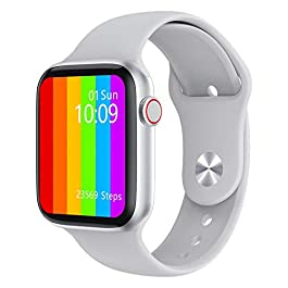 LauVery 1.75′ Men Size – S6 New Smart Watch IPS 320x385pixel IP68 Waterproof Smart Watch, Sports Smart Watch,Silver,1.75…