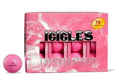 ICICLES Women's V Golf Ball, Pink