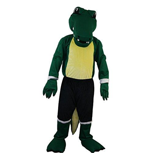 Green Crocodile Mascot Costume Cartoon Character Adult Sz Real Picture