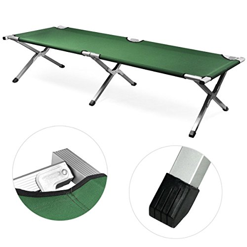 New Green, Outdoor Portable Military Folding Camping Bed Sleeping Hiking Guest Travel Green