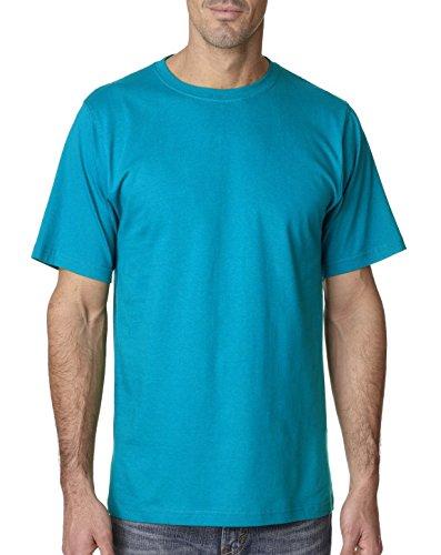 Anvil 780 Adult Heavyweight Short Sleeve Cotton Tee Caribbean Blue (Anvil Heavyweight T-shirt)