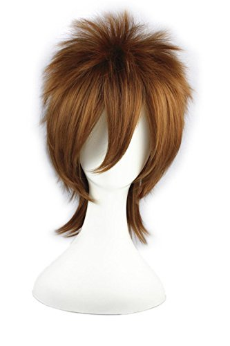 LOUISE MAELYS Men's Short Wig Cosplay Party Wig Hair Extension Anime Costume (Anime Costume Ideas)
