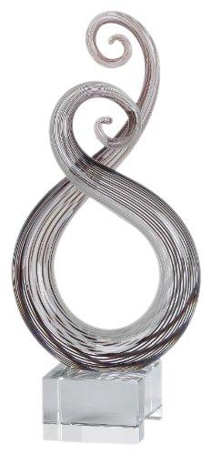 Badash Art Glass Centerpiece on Crystal Base 10 inch Badash Crystal GW513