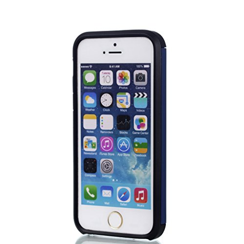 Coque Cover iPhone SE / 5 / 5S, IJIA Ultra-mince PC Dur et Les TPU Doux (2 en 1) Plastique Silicone Hard Bumper Case Cover Shell Coque Housse Etui pour Apple iPhone SE / 5 / 5S + 24K Or Autocollant (B