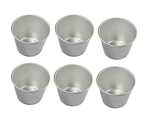 Astra shop Set of 6 Nonstick Individual Tumblers Popovers| Chocolate Molten Pans| Pudding Cups| Raspberry Souffle Pot| Darioles Ramekins Brownies Mold - Size 3 Inches ()