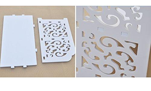 Creative carved anti - corrosion flower stand balcony modern simple multi - storey flower racks ( Size : 3022120cm )