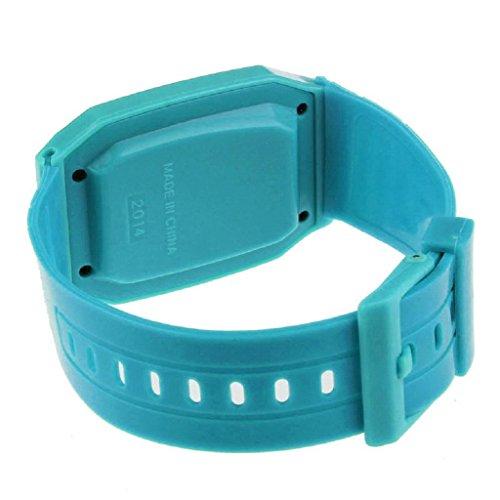 RIUDA Unsex Kids Silicone Multi-Purpose Date Time Electronic Wrist Calculator Watch Blue by RIUDA (Image #1)