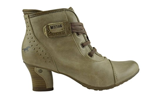 Ladies Boots Mustang Leaher Tan Vegan Znqw8wdO6P