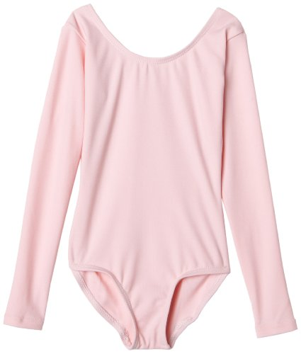 Capezio Little Girls' Team Basics Long Sleeve Leotard,Pink,S (4-6) - Childrens Tap Dance Costumes