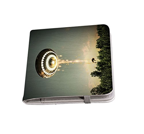 Rikki Knight SpaceShip Flying Saucer Passport Holder with slots for Travel (Miscellaneous Object Holder)