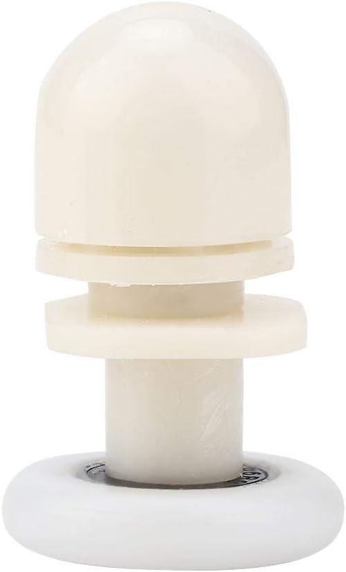 Shower Door Rollers 20 mm, 23 mm, 25 mm 23mm 8 Pieces Sliding Roller Durable Plastic Bottom Sliding Enclosure Door Glass Roller Replacement