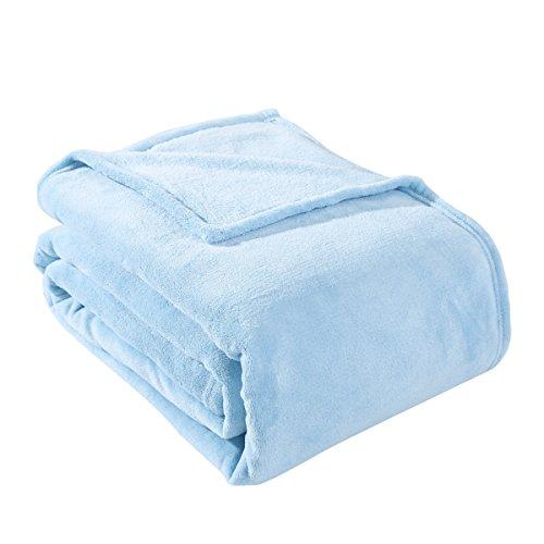 HYSEAS Coral Fleece King Size Plush Bed Blanket, ()