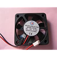 2 pcs Brushless DC Cooling Fan 12V 5010S 7 Blades 2 wire 50x50x10mm Sleeve-bearing Skywalking