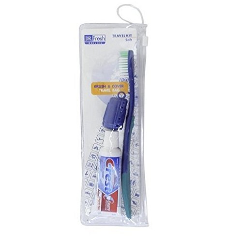 Price comparison product image Dr. Fresh Toothbrush on the Go Travel Kit (Pack of 4)