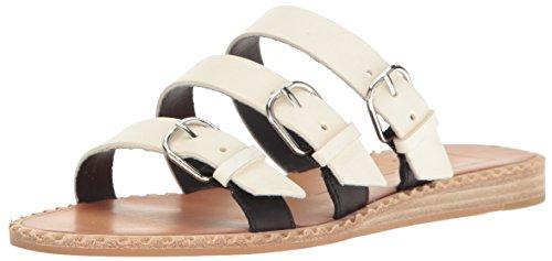 Dolce Vita Vrouwen Para Slide Sandaal Off White Leer
