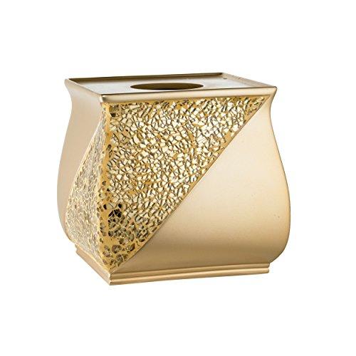 Popular Bath 839203 Sinatra Tissue Box,Champange Gold,Tissue-Holders (Gold Tissue Holder)