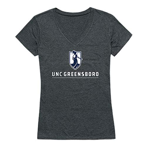 UNCG The University of North Carolina at Greensboro NCAA Womens Seal College Tee t Shirt, Small Heather Charcoal ()