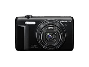 Olympus VR-370 16MP Digital Camera with 3-Inch LCD (Black) (Old Model)